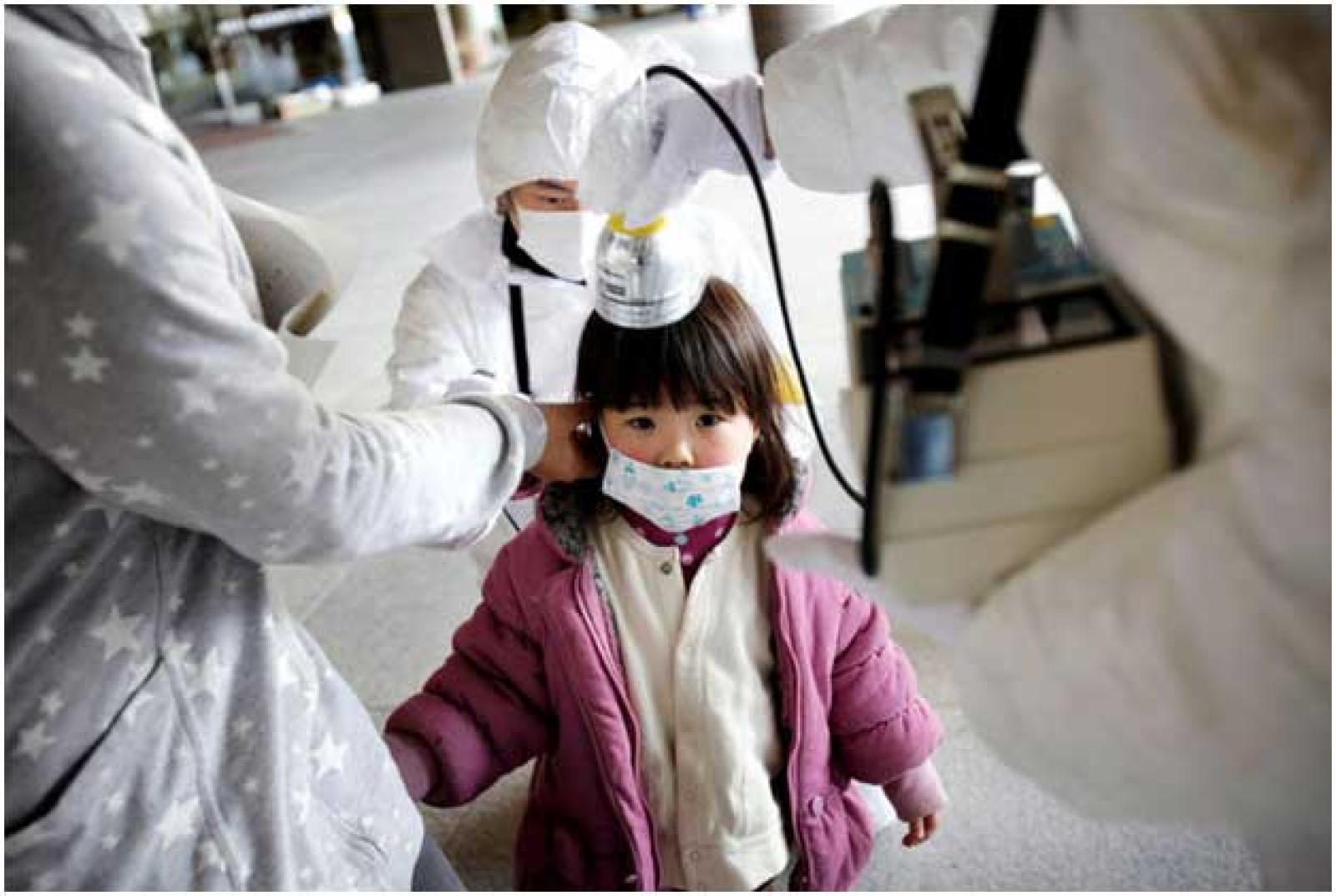 A child inspected in Fukushima prefecture, Japan