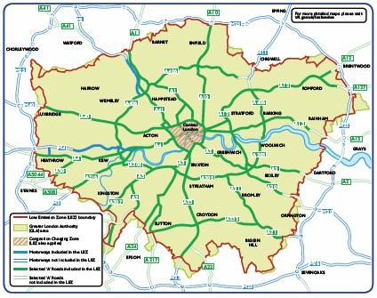 Low Emission Zone di Londra