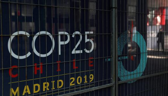 cancello della IFEMA conventions center, Madrid, Spain, sede della COP25. December 2, 2019. [Photo/Agencies]